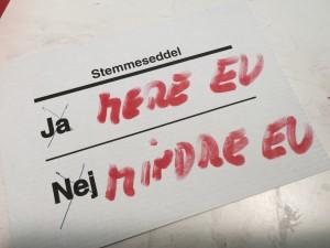 Min brevstemmeseddel til folkeafstemningen den 3. dec 2015